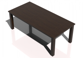 3D Tables - Solid wood table 220x100x80cm - Sierra - 22642