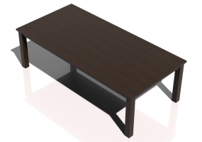 3D Tables - Solid wood table 260x125x80cm - Sierra - 22643