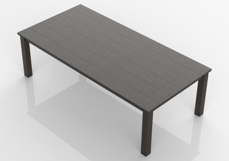 3D - Tavolo in legno massello 260x125x80cm - Sierra...
