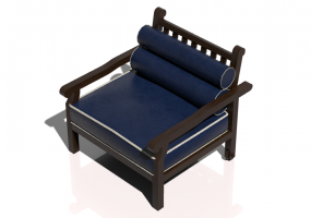 Chairs and Sofas 3D - Solid wood Armchair - Sierra - 22051