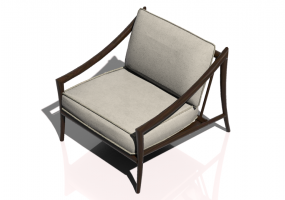 Chairs and Sofas 3D - Solid wood Armchair - Sierra - 22515A