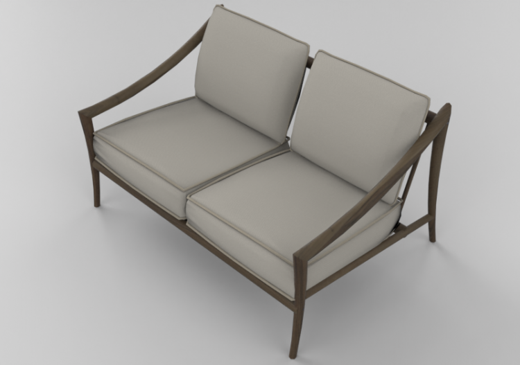 Amazing Chairs And Sofas 3D 2 Seater Solid Wood Sofa Sierra Spiritservingveterans Wood Chair Design Ideas Spiritservingveteransorg