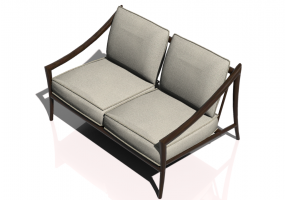 Chairs and Sofas 3D - 2 seater solid wood sofa - Sierra - 22515B
