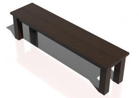 3D Benches - Solid Wood bench - Sierra - 22011TKT
