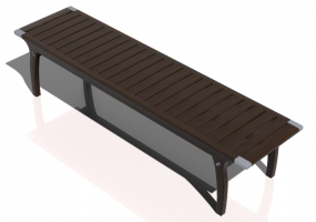 3D Benches - Solid Wood bench - Sierra - 22264