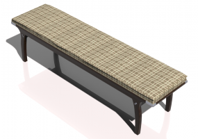 3D Benches - Solid Wood bench - Sierra - 22382D