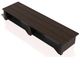 3D Benches - Solid Wood bench - Sierra - 22620