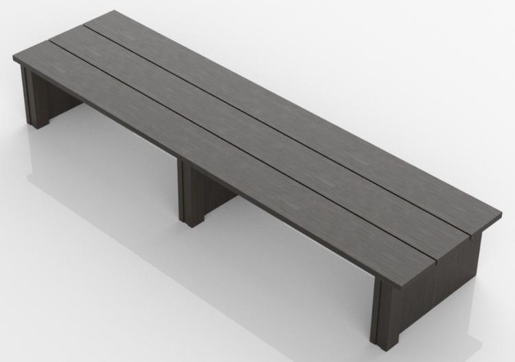 Panche 3D - Panca in legno massello - Sierra - 22620 - ACCA...