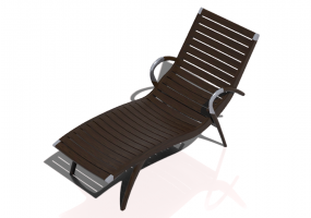 3D Deck chairs and sunbeds - Solid Wood Deck chair - Sierra - 22042TK