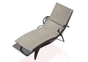 3D Deck chairs and sunbeds - Solid Wood Deck chair - Sierra - 22042TKT