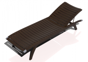 3D Deck chairs and sunbeds - Single bed in solid wood - Sierra - 22043TK