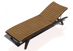 3D Deck chairs and sunbeds - Single bed in solid wood - Sierra - 22043TKT