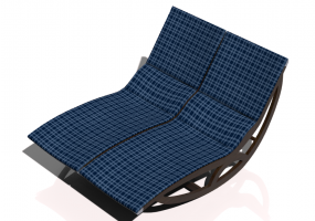 3D Deck chairs and sunbeds - Solid wood rocking deck chair - Sierra - 22044TKT