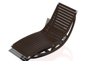 3D Deck chairs and sunbeds - Solid wood rocking deck chair - Sierra - 22045TK