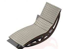 3D Deck chairs and sunbeds - Solid wood rocking deck chair - Sierra - 22045TKT