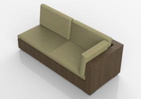Sedie 3d sedie e poltrone acca software - Divano in vimini ...