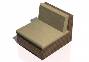 Chairs and Sofas 3D - Wicker chair