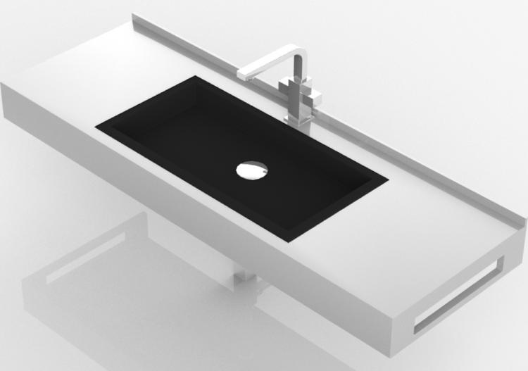 Lavabi 3d lavabo bagno da incasso 1210x420mm fiora for Lavabi bagno da incasso