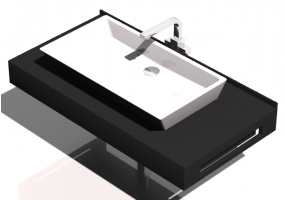 3D Sinks - Bathroom wash basin for base support 710x480mm - Fiora - FPCI0C