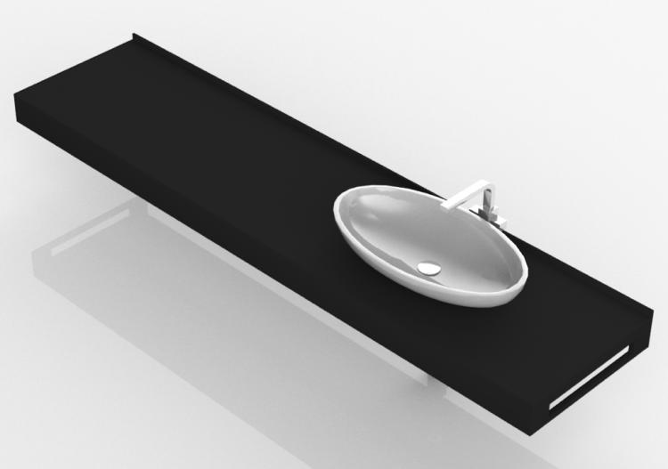 3D Waschbecken - Badezimmer Aufsatzwaschbecken 2010x480mm -...