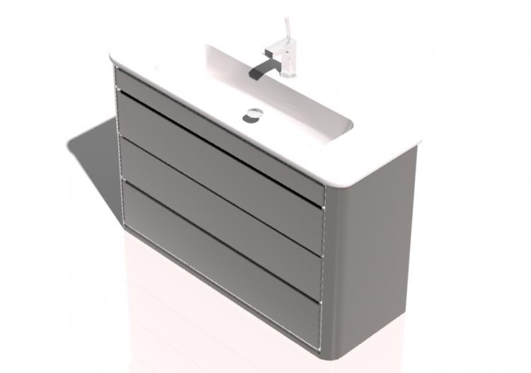 3d - mobile bagno sospeso 1200x800mm fiora -... - Fiora Arredo Bagno