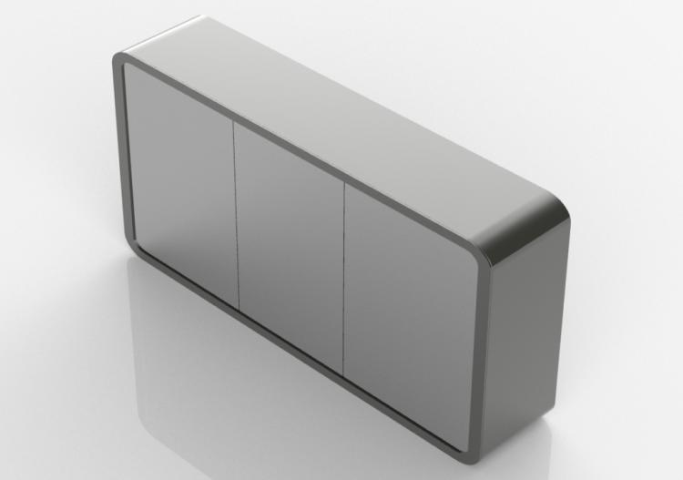 Specchi 3D - Specchio bagno contenitore 1200x600cm - Fiora...