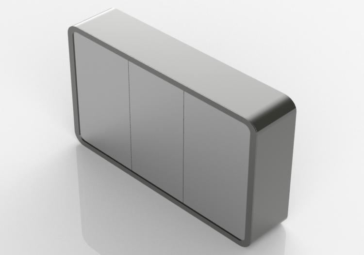 Specchi 3d specchio bagno contenitore 1200x700cm fiora for Specchio bagno 3d