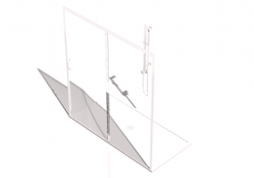 3D Shower - Shower tray with cabin 90x180cm