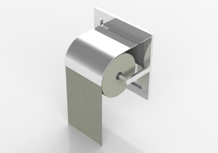 Accessori 3d porta rotolo carta igienica acca software - Accessori bagno porta carta igienica ...