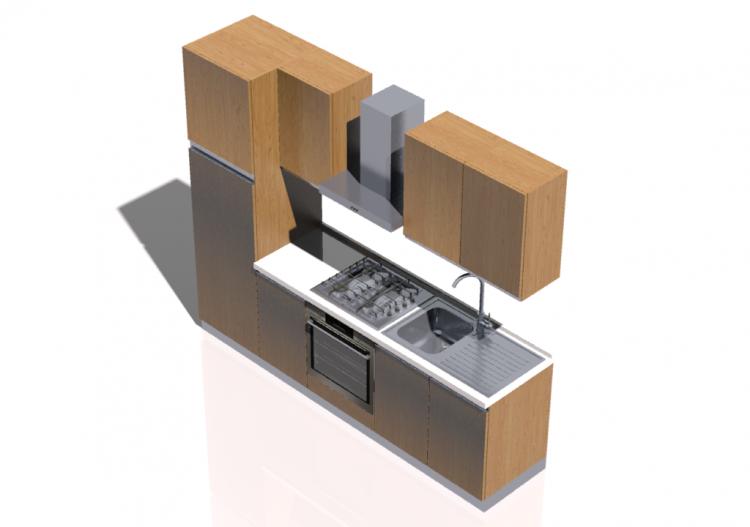 Cucina 3d dwg cheap progetto cucine componibili e in for Disegnare cucina 3d online