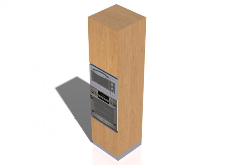 3D - Colonna forno e microonde 60x240cm - ACCA...