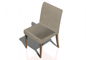 Chair with leather seating
