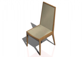 3D Chairs - Chair with fabric seats