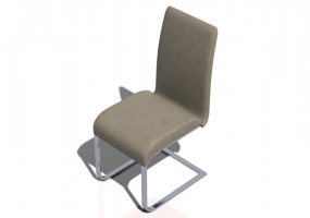 3D Chairs - Chair with leather seating