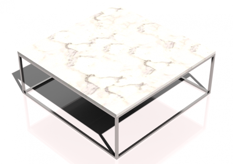 3d Tables Rectangular Coffee Table 100x100x34cm Natuzzi Cabaret T100