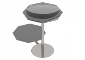Tables 3D - Petite table 43x43x52cm - Natuzzi - Ginger - T105