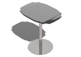 Tables 3D - Petite table 41x30x42cm - Natuzzi - Grace - T104