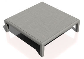 Tables 3D - Petite table carrée 100x100x29cm - Natuzzi - Opera - T119