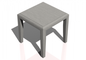 Tables 3D - Petite table carrée 50x50x50cm - Natuzzi - Opera - T119
