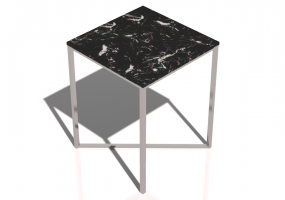 Tables 3D - Petite table carrée 40x40x50cm - Natuzzi - Titano - T111