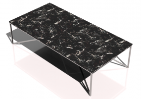 Tables 3D - Petite table rectangulaire 140x70x35cm - Natuzzi - Titano - T111