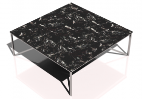 Tables 3D - Petite table carrée 100x100x35cm - Natuzzi - Titano - T111