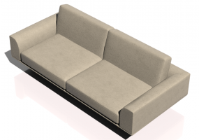Chairs and Sofas 3D - Two seater leather sofa - Natuzzi - Giò - 2912