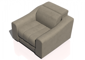 Chairs and Sofas 3D - Leather sofa - Natuzzi - Attesa - 2827