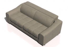 Chairs and Sofas 3D - Two seater leather sofa - Natuzzi - Attesa - 2827