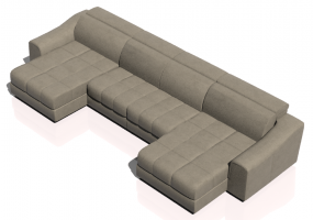 Chairs and Sofas 3D - Three seater leather sofa - Natuzzi - Attesa - 2827