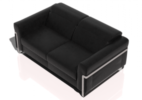 Chairs and Sofas 3D - Two seater leather sofa - Natuzzi - Fidelio - 2907