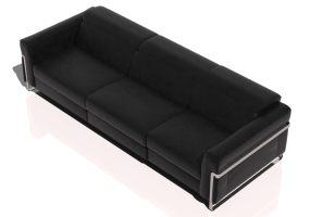 Chairs and Sofas 3D - Three seater leather sofa - Natuzzi - Fidelio - 2907