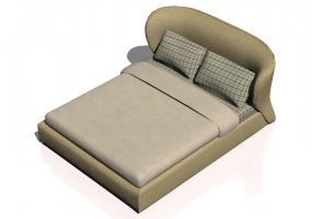 Beds and Side Cabinets 3D - Bed structure 188x233cm - Natuzzi - Oasi