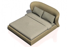 Beds and Side Cabinets 3D - Bed structure 208x233cm - Natuzzi - Oasi